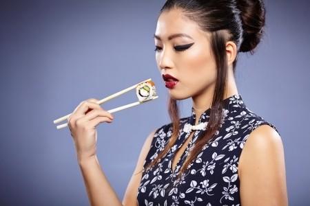 24976651 - asian sushi woman