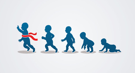 55873340 - baby running steps graphic vector